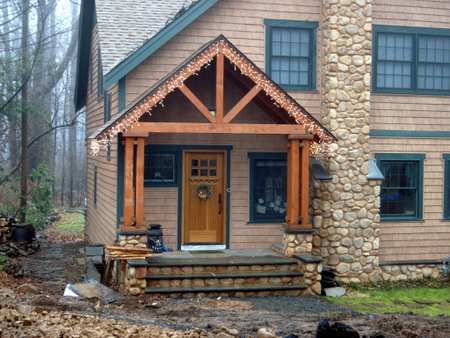 Timber frame front porch joy studio design gallery for Timber frame porch designs